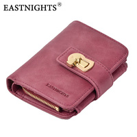EASTNIGHTS New Women Wallets Brand Design High Quality Genuine Leather Wallet Female Zipper Fashion Coin Purse