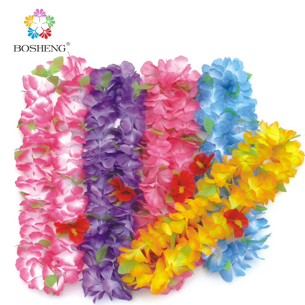 10pcs Hawaiian Flower Leis Garland Necklace Fancy Dress Party Hawaii