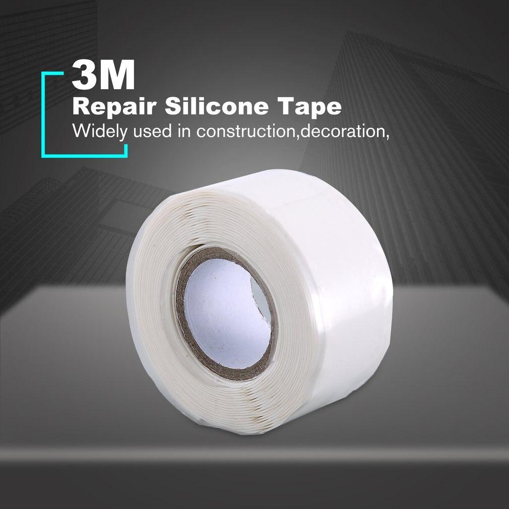 2.5*3M Waterproof Self-adhesive Heat Resistance Silicone Repair Tape High Viscosity Self-fluxed Band Water Pipe Repair Seal Tool