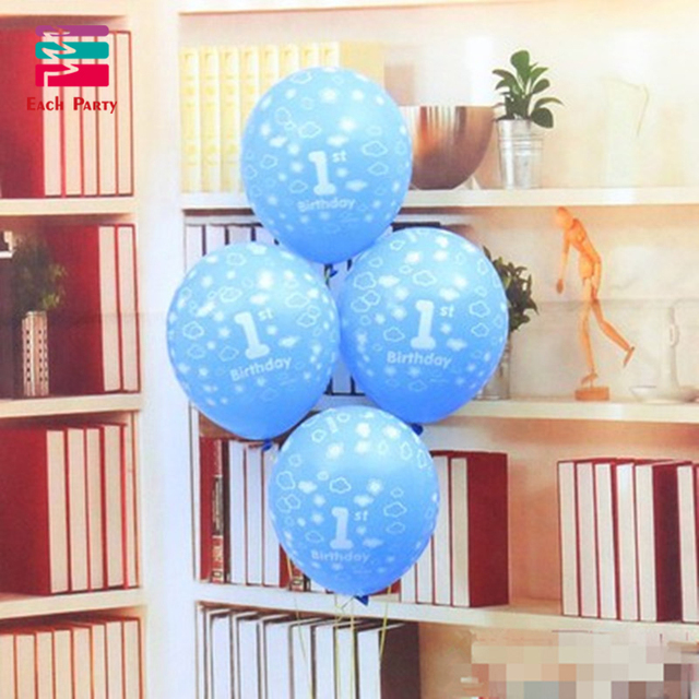 12 inch happy birthday party decorations kids boys girls 1st birthday latex balloons festival balls baby shower party supplies