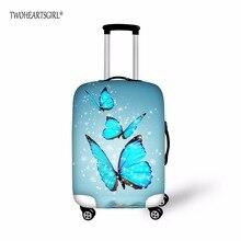 Twoheartsgirl бабочка конструкции камера защитная крышка 18-30 дюймов тележка чемодан эластичный пыль Сумки Чехол дорожные аксессуары