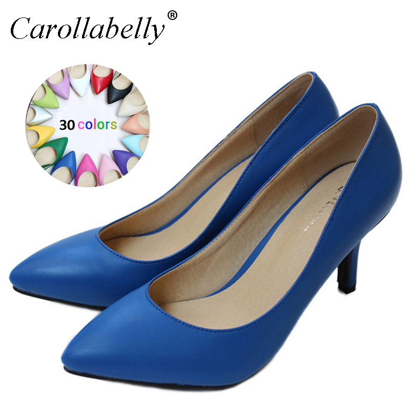 New 2018 Women's High Heels Sheepskin Women Pumps Sexy Bride Party Thin Heel Pointed Toe High Heel Shoes Plue Size 34-41 D30-579 clarins sr