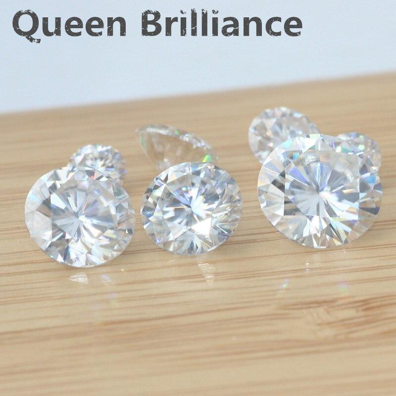 Loose Moissanite 2 Carat ct 8MM No Less Than GH VVS2 High Quality Test Positive Lab Grown Diamond VVS1 Excellent Cut Gemstones