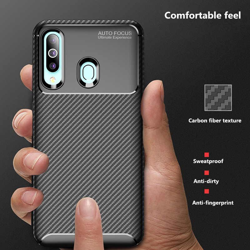 Huawei P Smart 2019 case Luxury Carbon Fiber Phone Case for huawei honor 10 9i 9lite 8 X/E/C/MAX/A 7A v20 20pro Y6 Y6pro Y9 2019
