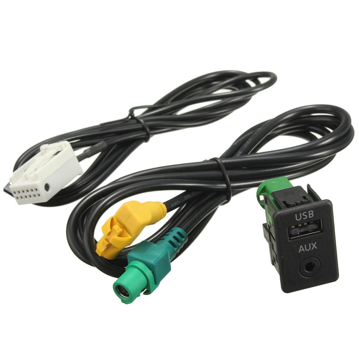 Neue Aux in Schalter & USB Draht Kabel Adapter Für BMW 3 5 serie E87 ...