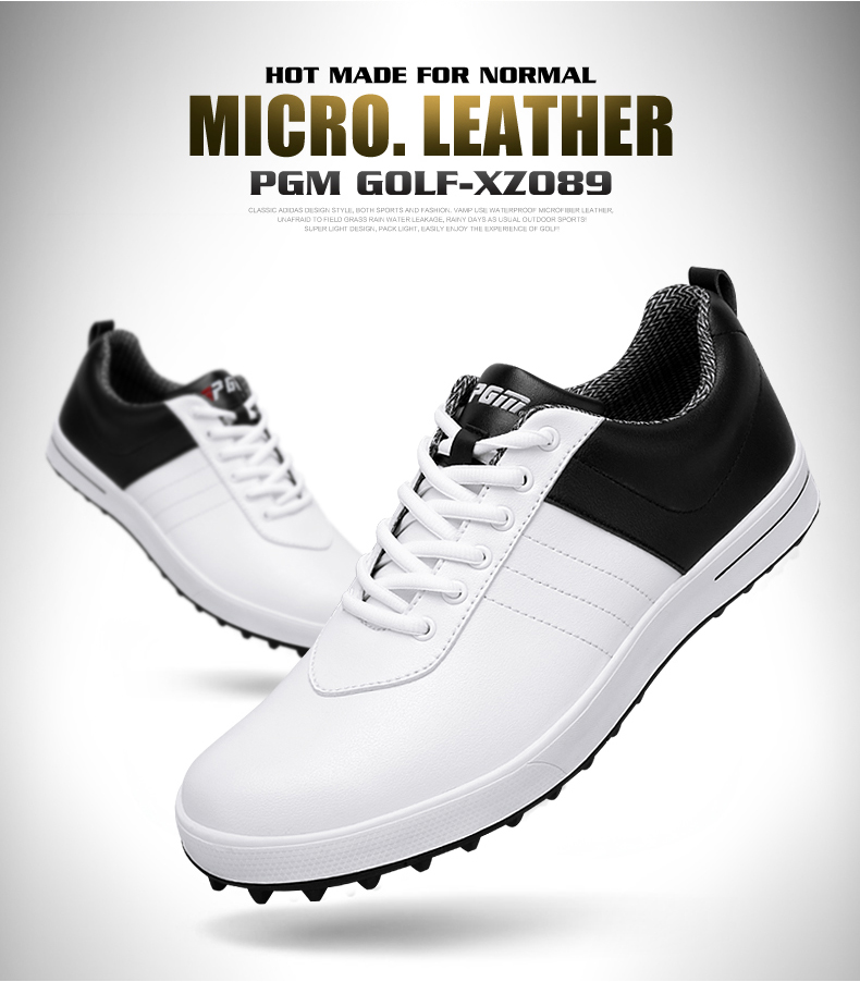 PGM Golf Shoes Golf Sneakers Men's Waterproof Shoes Nailless Breathable Shoes