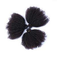 4B 4C афро кудрявый вьющиеся волосы человека связки (bundle) комплект из 3 предметов бразильские волосы ткать пучки натуральный Цвет Мёд queen Волос