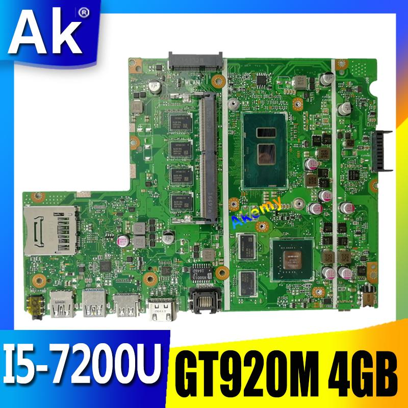 AK X541UJ X541UVK Laptop Motherboard For ASUS X541UJ X541UV X541U X541 Test Original Mainboard 4G RAM I5-7200U GT920M