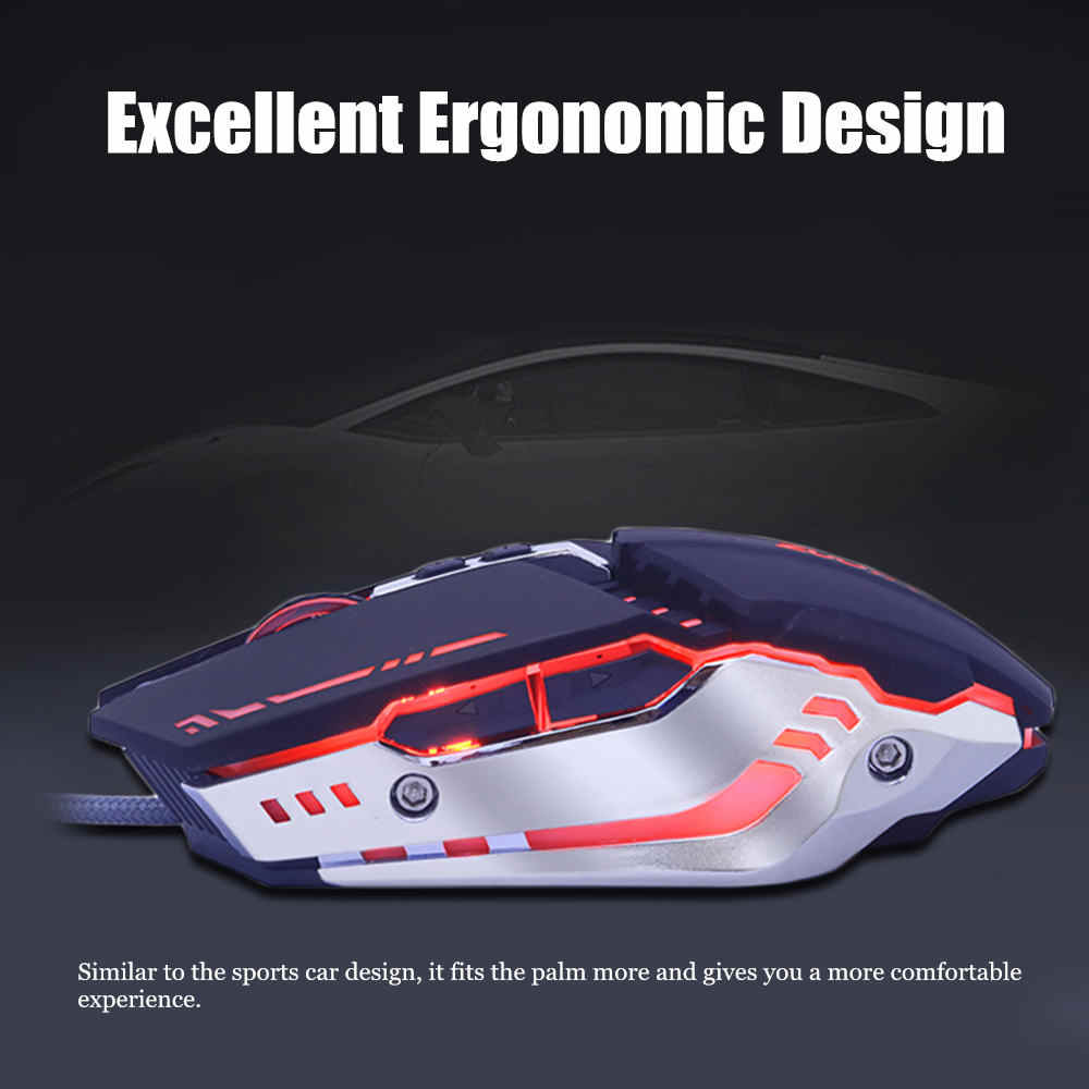 プロゲーミングマウスアジャスタブル 5500 DPI 7 ボタン光学式 Usb 有線コンピュータマウスゲーマーラップトップ Pc 用
