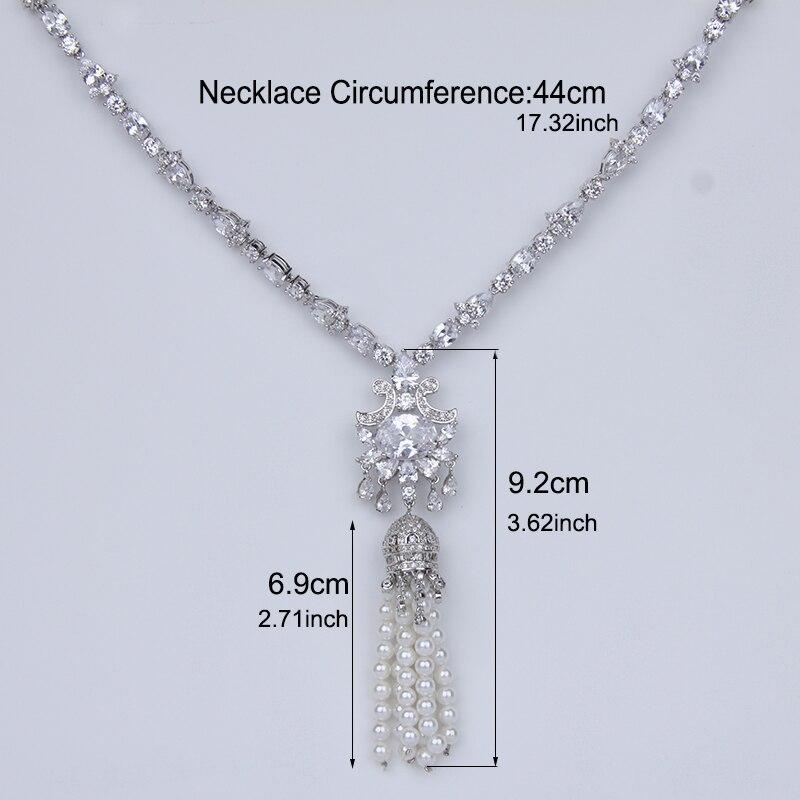 Ensembles de bijoux de mariée en perles simulées magnifiques ensembles de boucles d'oreilles collier de fleurs en cristal bijoux de mariage ensembles de Sieraden AS121 - 2