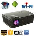 5500 Lúmenes del proyector full hd Quad Core Android 4.4 WiFi Inteligente 1080 P 3D LCD proyector del Teatro Casero LED Proyector de Vídeo Beamer proyector