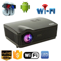 5500 Lumens projetor full hd Quad Core Android 4.4 WiFi Inteligente 1080 P 3D Home Theater LCD LED Projetor de Vídeo Beamer Proyector