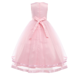 Image 2 - iiniim Princess Dress for Kids Girls Sleeveless Layered Tulle Flower Girl Dress Pageant Wedding Bridesmaid Birthday Party Dress