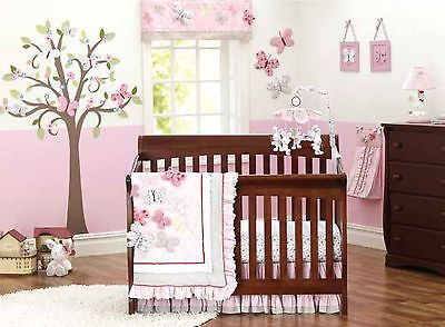 Baby Nursery Crib Bedding Set Cot Three Dimensional Erfly 8pcs Tour De Lit