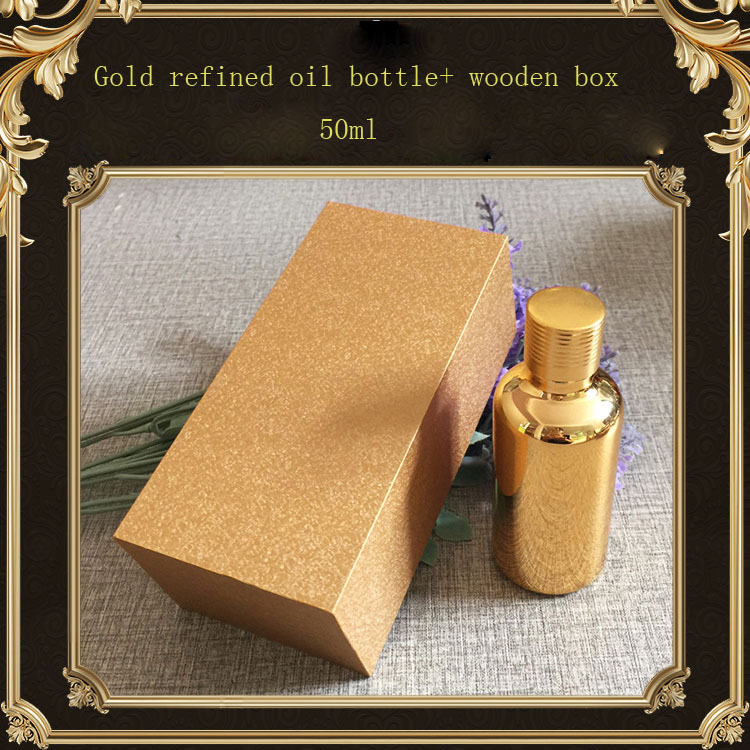 50ml High-grade gold refined oil bottle with screw cap ,Empty capsule bottle  ,Packing bottle with wooden box. 1kg refined d xylose food grade 99 5