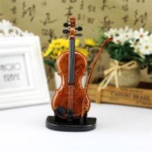 Hand-Drawn Violin Music Box Ornaments Cute Mini Music Box Birthday Gift Violin Miniature Crafts Home Decoration недорого