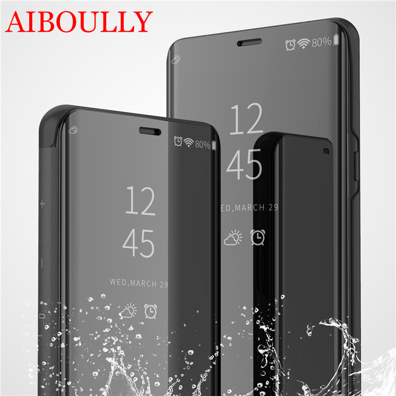 Clear View Smart Mirror Phone Case For <font><b>Samsung</b></font> Galaxy <font><b>S10</b></font> <font><b>S10</b></font> Plus Lite S8 S8+ S7 S6 S9 Cases Fashion <font><b>Flip</b></font> Stand Leather <font><b>Cover</b></font> image