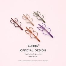 EUHRA 10 Colors Cute Hair Pins Bobby Bunny Pin Rabbit Shape Girls Clip Hairgrips Kid Children Women Bob