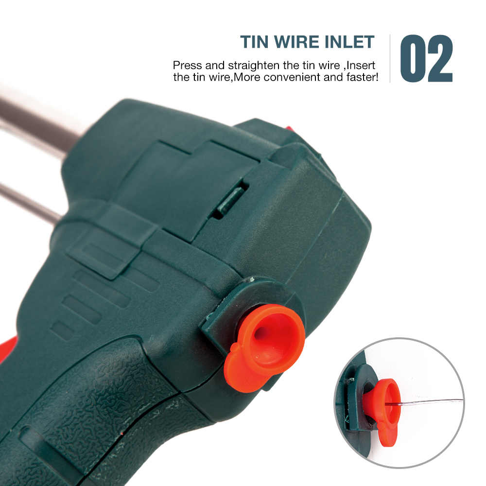 60 واط القصدير سبيكة لحام كهربائي عدة التلقائي إرسال القصدير بندقية محطة لحام كهربائي تلميح مصاصة الملقط أدوات لحام الأسلاك