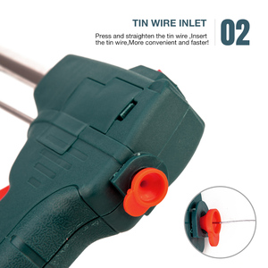 Image 4 - 60W Tin Electric Soldering Iron Kit Automatic Send Tin Gun Electric Solder Station Tip Sucker Tweezers Wire Welding Tools