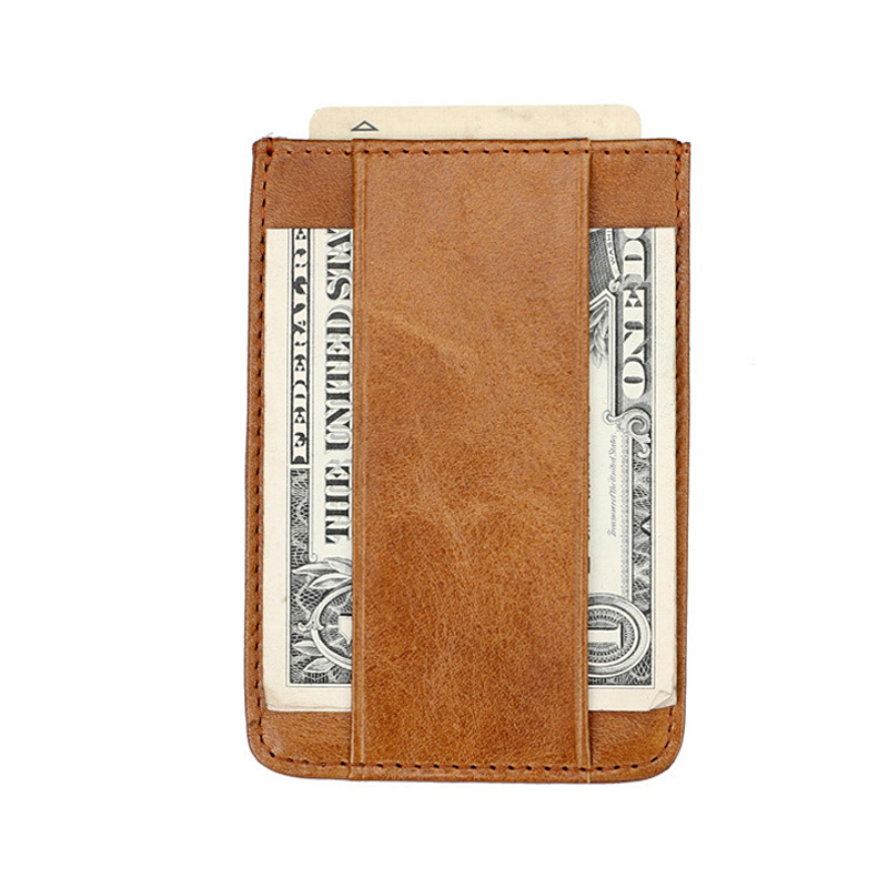 Top Quality Genuine Leather Mens Money Clip Dollar Brown Cow Leather Clip Money Holder Slim Leather Money Clip Moneyclip money