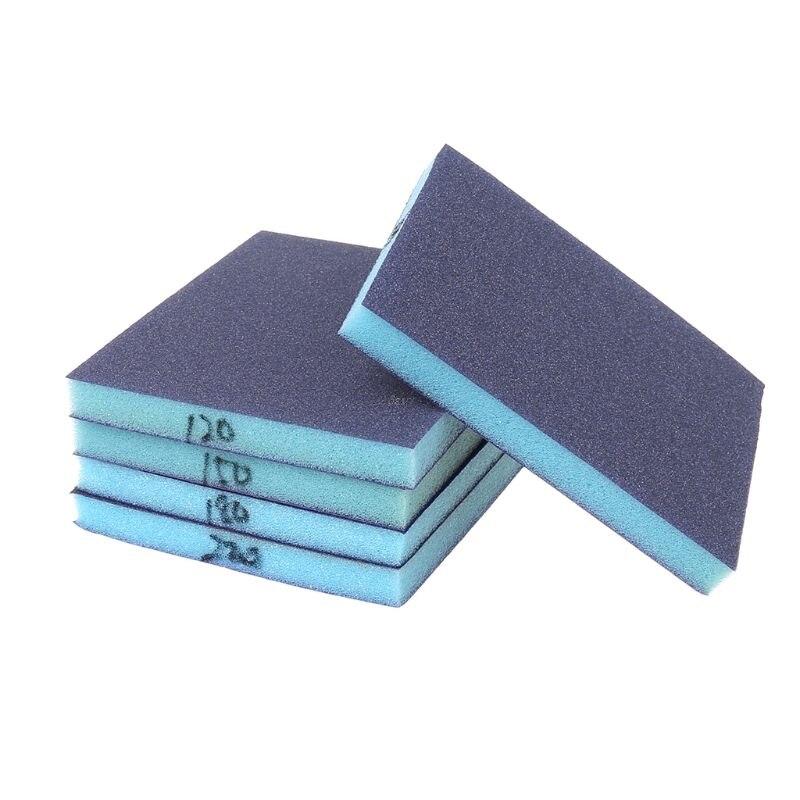 1Pcs Grit 100-220 Polishing Sanding Sponge Block Pad Set Sandpaper Assorted Grit Abrasive Tools Sandpaper Sanding Discs