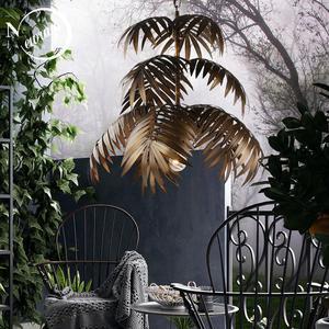 Image 1 - لوفت الحديثة شجرة جوز الهند نجفة مزودة بإضاءات ليد E27 الصناعية الإبداعية مصباح معلق لغرفة المعيشة مطعم غرفة نوم اللوبي فندق