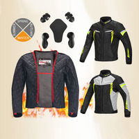 MOTOBOY Four seasons Motorcycle riding clothes Jacket Motobiker protective 600D warm jackets motocross ventilation coat S 4XL