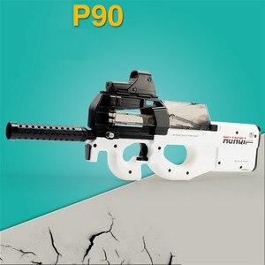 Image 2 - Pistola de juguete eléctrica P90 de Graffiti Edition, Arma de simulación de corte CS de asalto en vivo, pistola de balas de agua suave para exteriores, juguetes para niños