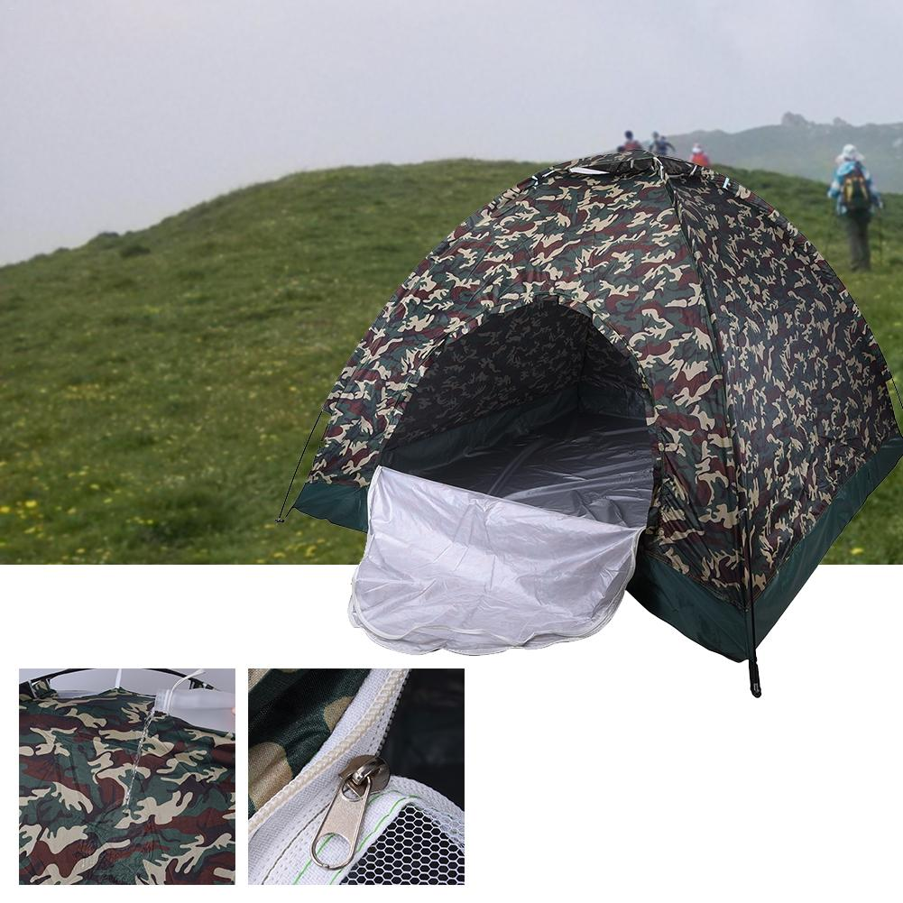 One-person Single-layer Camouflage Tent Outdoor Multi-person Single-layer Camping Tent Carrying Waterproof Multi-class Optional