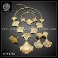 Dubai 24 K Oro Plateó La Joyería Fija Hermosa Joyería Nupcial FHK1783