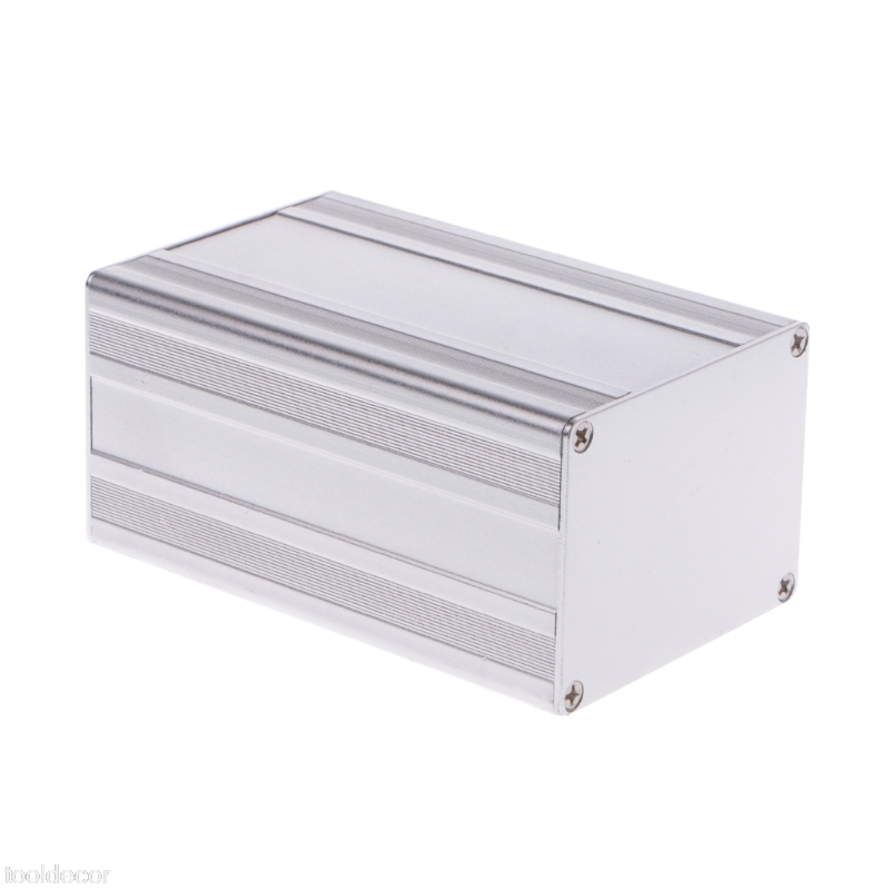 1PC 100x65x50mm DIY Aluminum Enclosure Case Electronic Project PCB Instrument Box -B119 1pc electronic project instrument box black aluminum enclosure case 100x66x43mm mayitr with corrosion resistance