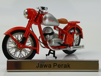 Rare 1:24 Jawa Perak three wheel motorcycle alloy retro motorcycle model Collection model