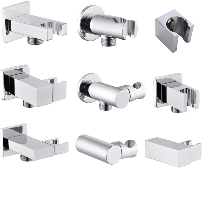 Solid Brass Chrome Shower Head Holder Handheld Shower Spray Bracket Wall Mount Bidet Sprayer Holder Concealed Show  Accessory