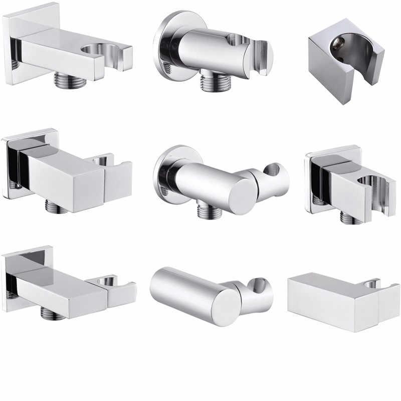 Solid Brass Chrome Shower Head Holder Handheld Shower Spray Bracket Wall Mount Bidet Sprayer Holder Concealed Show Accessory Aliexpress