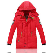 Fashion 2016 New Arrival Boys Girls Down Jackets Boys Winter Long Sections Thick Warm Down Coats Girls Warm Windproof Down Coats