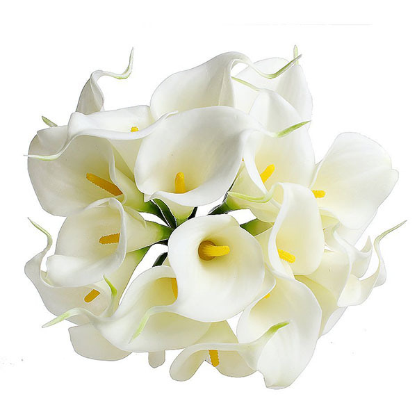 Delicado Ramo Artificial Calla Lily Falso de Seda Flores de La Boda Decoración D