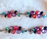 Free shipping multicolored rhinestones applique rhinestones chain trimming Height of 2.7cm