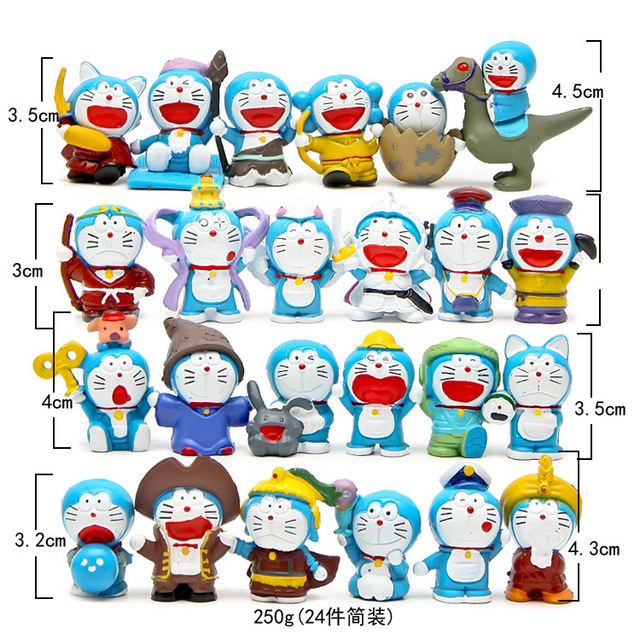 24 Pcs Lot Doraemon Hewan Gambar Japanese Anime Doraemon Aksi Tokoh