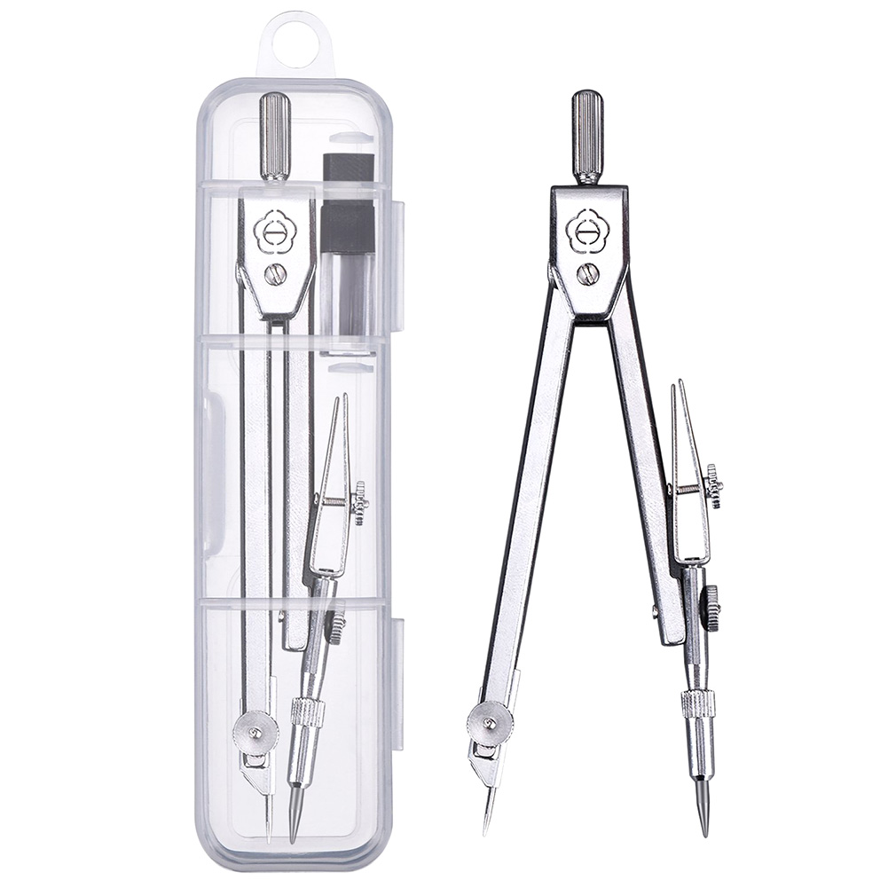 Metal Compasses+Lead Two Suits The Students Professional Drawing Office Compasses