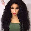 Kinky Curly Human Hair Wigs For Black Women 16-26 Inch Lace Front Wigs With Baby Hair 8A Grade 180 Density Full lace Wigs