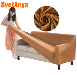 Svetanya Stripe Slipcovers Solid Color Sofa Cover all-inclusive Couch Case for different Shape Sofa