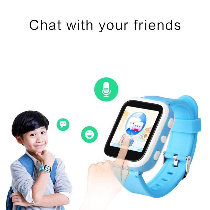 SOS Smart Watch Children Phone Bluetooth Student Smart Positioning Card Call Color Screen Multilingual Watch