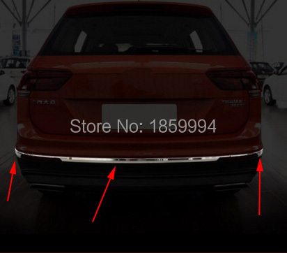 for 2016 2017 2018 VW Tiguan mk2 allspace America version car styling bottom rear Bumper trim cover car rear trunk security shield cargo cover for volkswagen vw tiguan 2016 2017 2018 high qualit black beige auto accessories