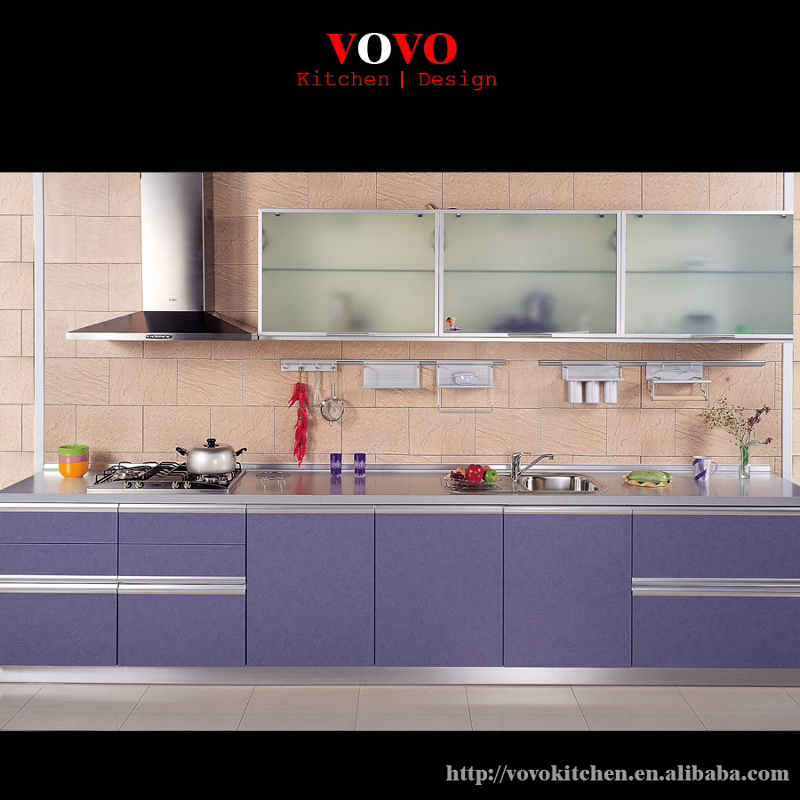 Kitchen Cabinets With Glass Uppers: Kitchen Cabinets Upper Glass Cabinet And Lower Purple