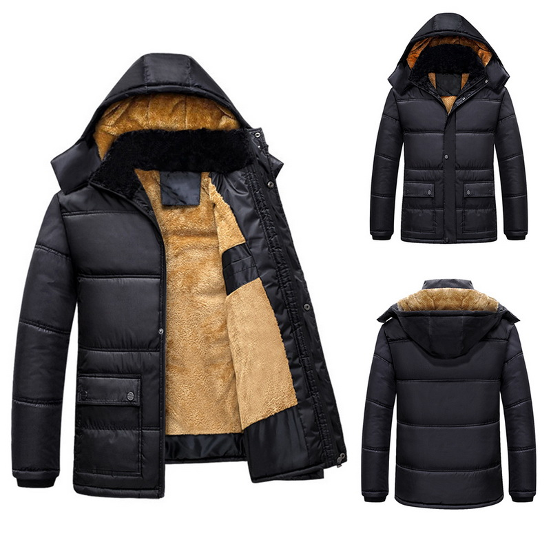Jackets & Coats Parkas Brand Long Winter Jacket Coat Warm Parka Hombre Fur Hooded Causal Thick Parkas Mens Jackets Overcoat Outerwear Plus Size 3xl