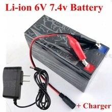 Литиевая 6 в 10Ah 4.5Ah 12Ah 16Ah 20Ah 2 s 7,4 в батарейный блок 100 Вт не свинцово-кислотный для солнечного света для электрического детского автомобиля детская игрушка Светодиодная лампа