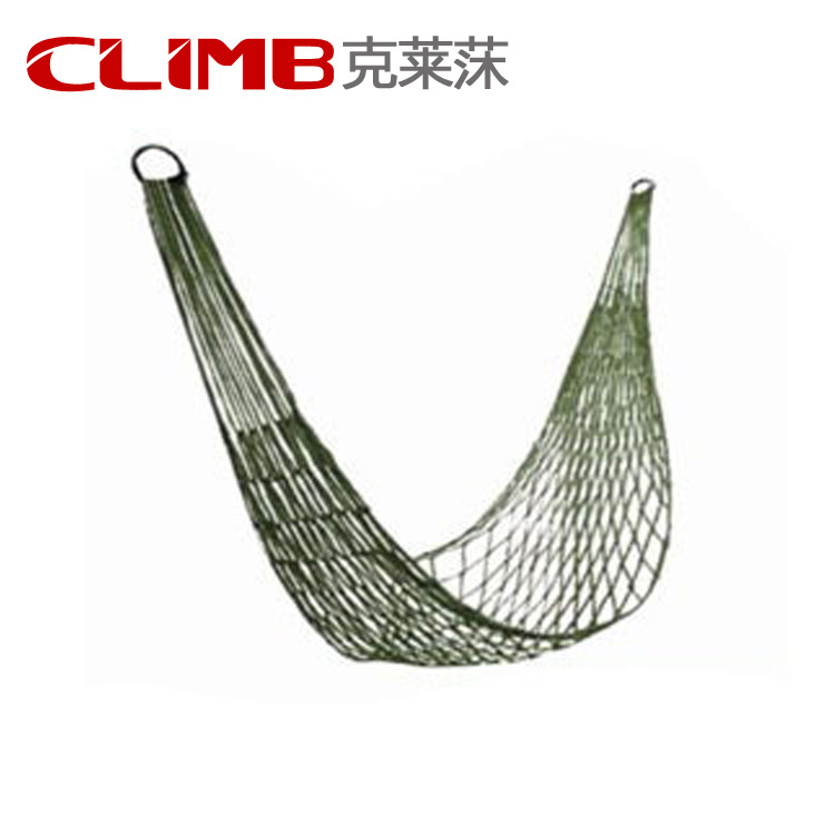 Outdoor Travel Camping Hammock Garden Portable Nylon Hang Mesh Net Sleeping Bed 6m 20ft long 12mm wire spiral wrap wrapping sleeving band cable black white x 2
