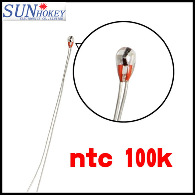 10pcs/lot 3D Printer NTC Thermistor 100 K Accuracy 1% B Value 39501.8MM Temperature Sensor 3D Printer Parts