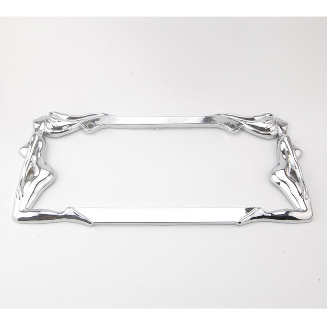 1pc Chrome Metal Car Trucker Twin Hot Sexy Nude Girl Lady License Plate Tag Frame Decoration Car Styling Auto Accessories